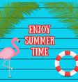 summer web banner on dark blue wooden background vector image