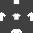 T-shirt icon sign Seamless pattern on a gray
