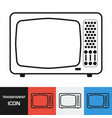 transparent retro television icon vector image