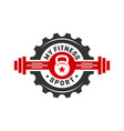 vintage logo design or retro sports and fitness vector image vector image