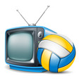 volleyball channel vector image vector image