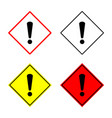 warning sign set vector image vector image