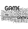 what you need to know video games text word cloud vector image vector image