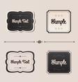 Elegant frames and menu invitation design elements vector image