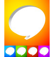 3d speech or talk bubbles over vibrant colorful vector image