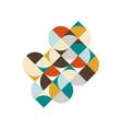 abstract geometric retro vintage isometric vector image
