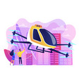 aerial taxi service concept
