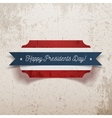 Banner Template with Happy Presidents Day Text vector image vector image