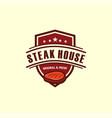 barbecue logo label vintage retro steak house vector image vector image