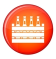 Beer wooden box icon flat style vector image