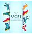 big collection set of sport shoe equpment vector image vector image