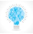 Blue light bulbs form a big bulb vector image