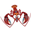 cartoon crayfish vector image vector image