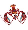 Cartoon crayfish
