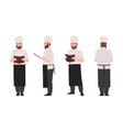 chef cook or restaurant worker wearing uniform vector image vector image