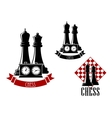 Chess tournament icons with chessmen