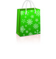 Christmas Creen Shopping Bag vector image vector image