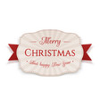 christmas realistic badge graphic element vector image vector image