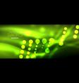 circle abstract lights green neon glowing vector image vector image