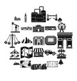 community icons set simple style vector image