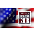 congratulations on new 2018 against the vector image vector image