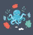 cute cartoon image octopus vector image vector image