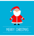 Cute Santa Claus Blue background Merry Christmas vector image