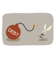 Debt Cut vector image