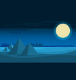 desert view egypt pyramids night flat vector image vector image