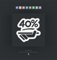 discount label icon vector image