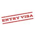 Entry Visa Watermark Stamp vector image