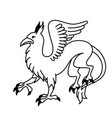 flat linear griffin vector image