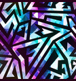 geometric seamless pattern with crystals effect vector image