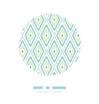 Green ikat diamonds frame circle decor patterns vector image vector image