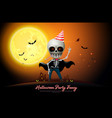halloween night full moon party fancy vector image vector image