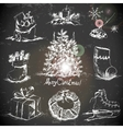 Hand-drawn New Year and Christmas set vector image vector image