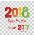 happy new year 2017- 2018 template for poster vector image vector image