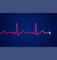 heart cardiogram pulse screen background vector image