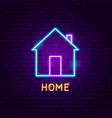 home neon label vector image vector image