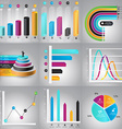 Infographics Design Templates set Charts diagrams vector image vector image