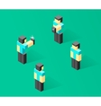Isometric people 3d person vector image