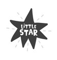 little star scandinavian style childish poster vector image vector image