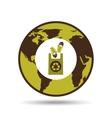 Map earth environment ecological green bulb bag