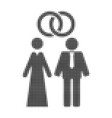 marriage persons halftone dotted icon vector image vector image