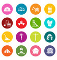 miner icons many colors set vector image vector image