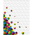 Multicolor cubes background vector image vector image