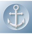 Nice anchor icon with shadow on blue vector image vector image