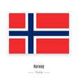 Norway Flag Icon vector image vector image