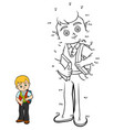 numbers game schoolboy with a book vector image vector image