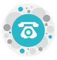 of phone symbol on antique vector image vector image